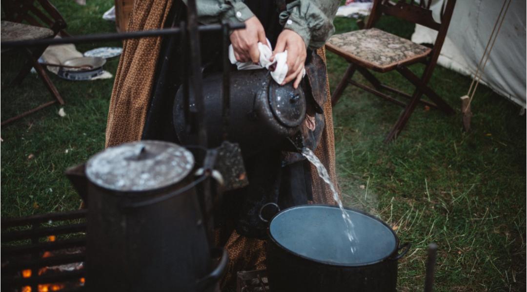 Bruciature con acqua bollente