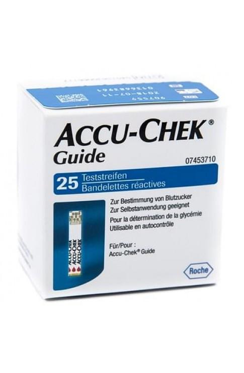 Accu Chek Guide 25 Strips Retail Strisce Per La Misurazionedella Glicemia Accu Chek Guide 25 Pezzi Cod Retail