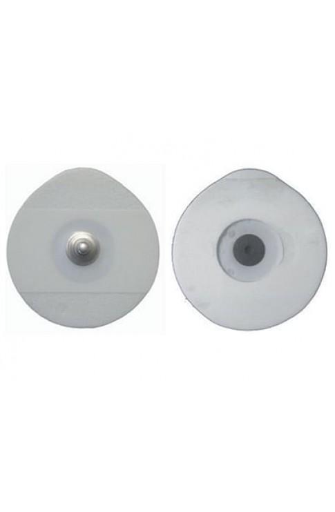 Elettrodo Oe Foam Monouso Ovale 48x50mm Per Adulti In Gel Solido Con Sensore Ag/Agcl Con Clip In Acciaio Inox Fiab 50 Pezzi