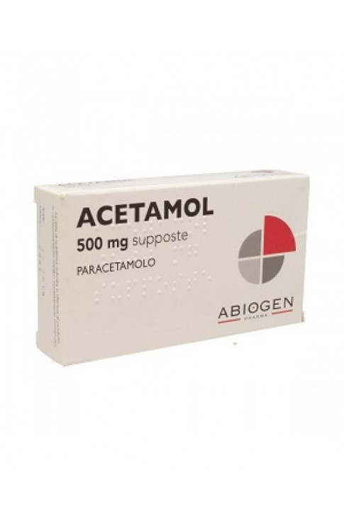 Acetamol*10supp 500mg