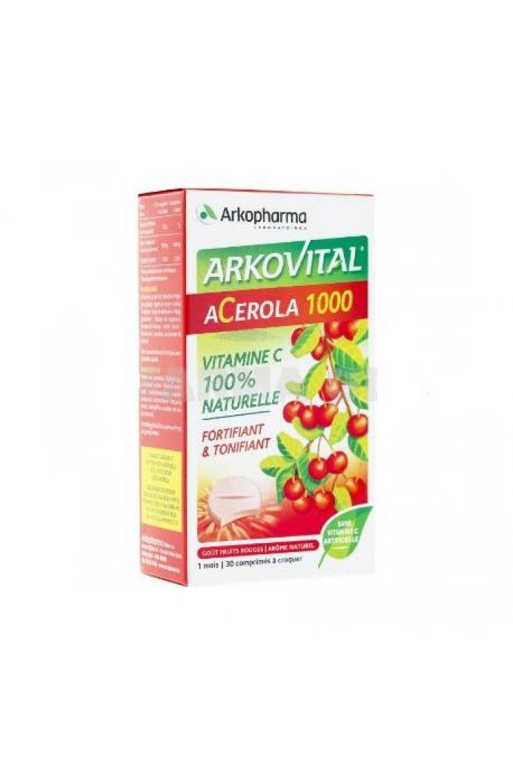 Acerola 1000 Vitamina C Compresse Masticabili