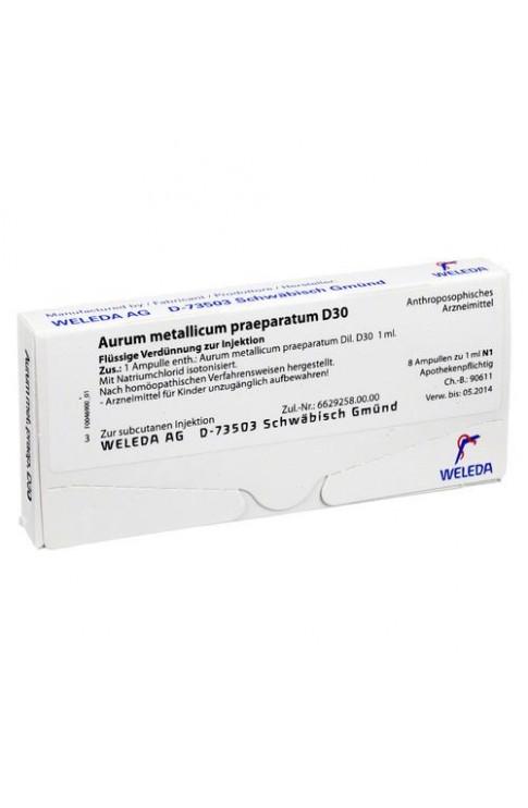 Aurum Metallicum Praeparatum D 30 Tr 20g
