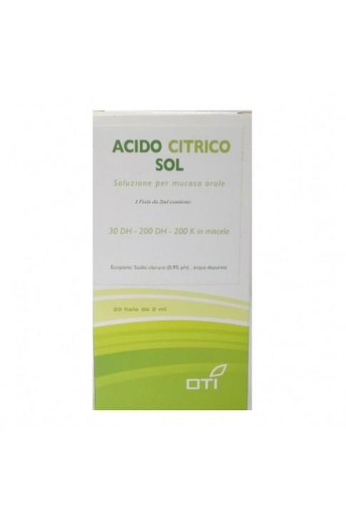 Acido Citrico Soluzione 20 Fiale Oti