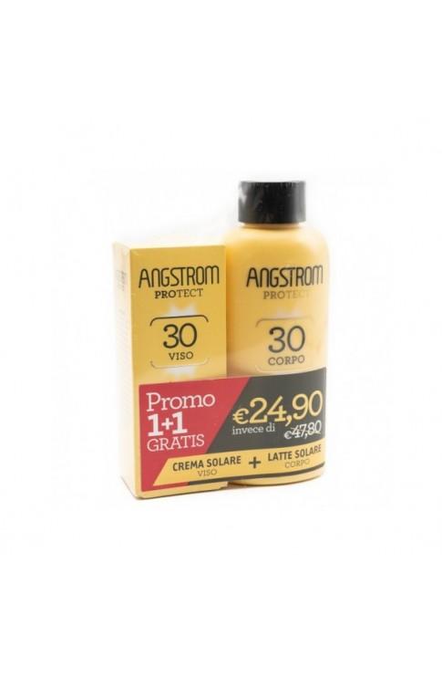 Angstrom Bipacco Latte Solare Viso 30 + Crema Corpo 30