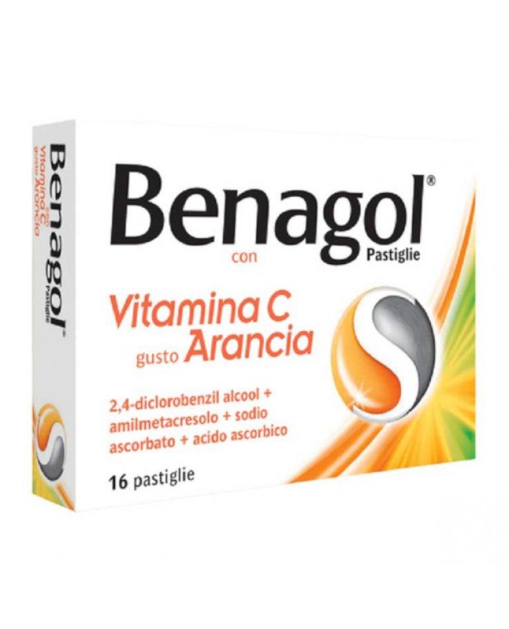 Benagol 16 Pastiglie Arancia con Vitamina C