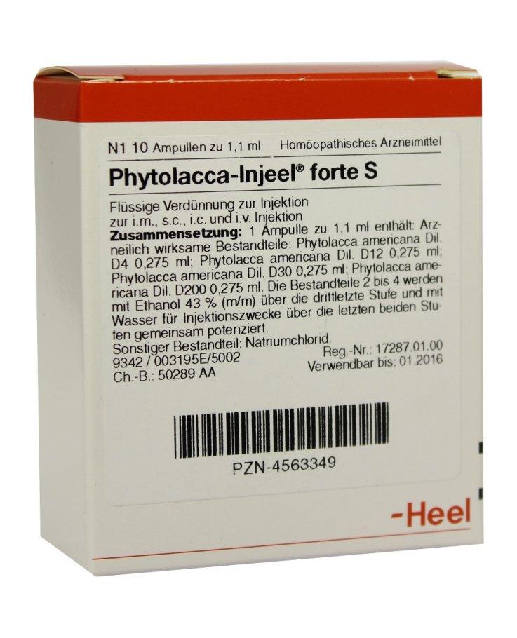 Phytolacca Injeel forte 10 Fiale 1,1 ml Heel
