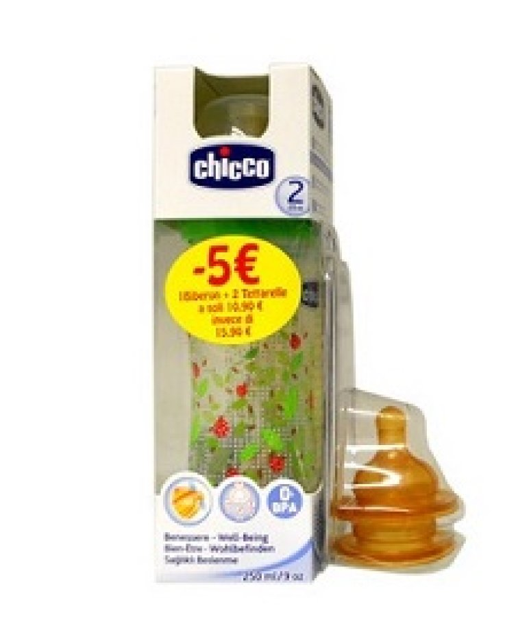 CHICCO Bipack Biberon+tettarella