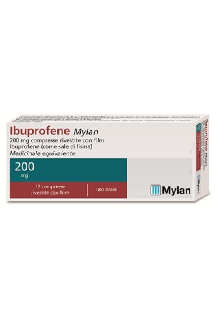 Ibuprofene 12 Compresse Rivestite 200mg Mylan