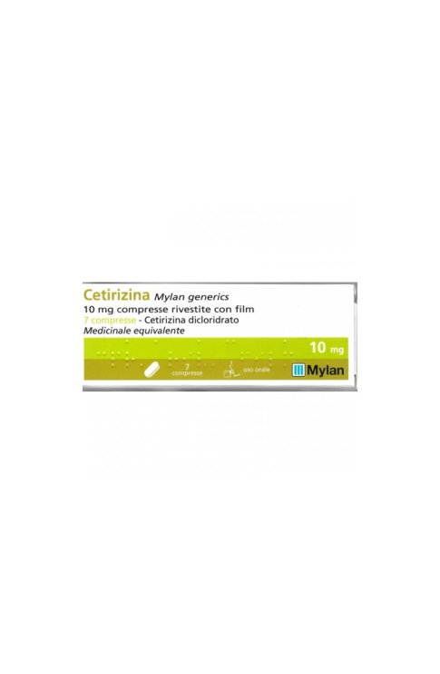 Cetirizina 7 Compresse Rivestite 10mg Mylan