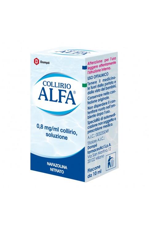 Collirio Alfa Gocce 10ml 0,8mg/ml