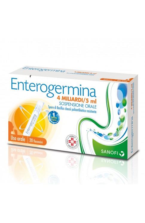 Enterogermina Soluzione Orale 20 Flaconi 4miliardi 5ml
