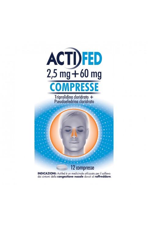 Actifed 12 Compresse 2,5 mg + 60 mg