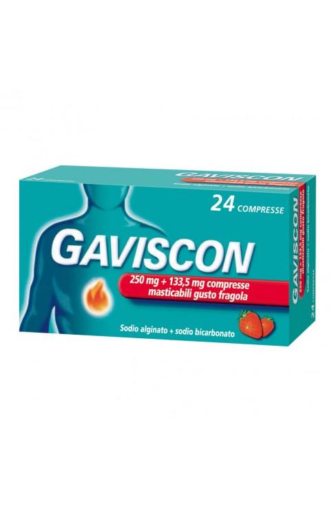 Gaviscon 24 Compresse Masticabili 250+133,5mg Fragola
