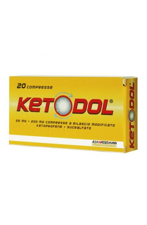 Ketodol 20 Compresse 25 mg + 200 mg Rilascio Modificato