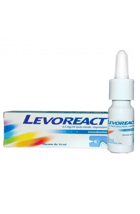 Levoreact Spray Nasale 10 ml 0,5 mg
