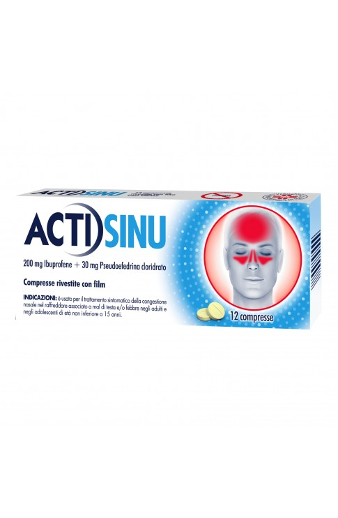 ACTISINU 200 + 30 mg 12 Compresse