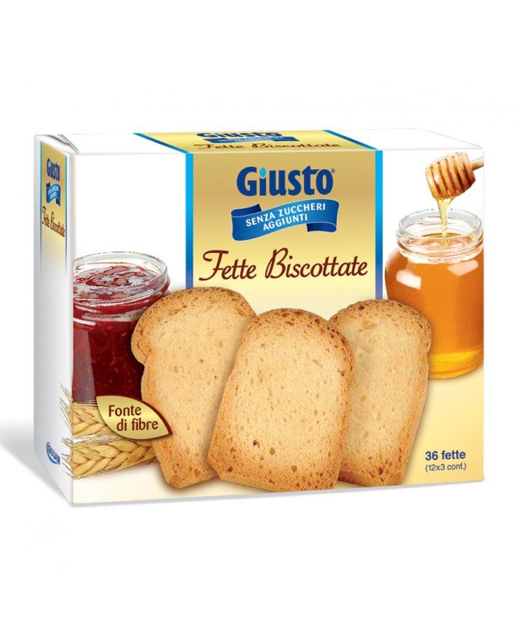 Giusto Senza Zucchero Fette Biscottate 300g