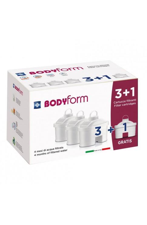 BodyForm Cartucce Filtranti 3 + 1 Pezzo