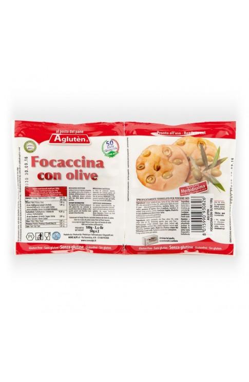 Agluten Focaccina Olive 100g