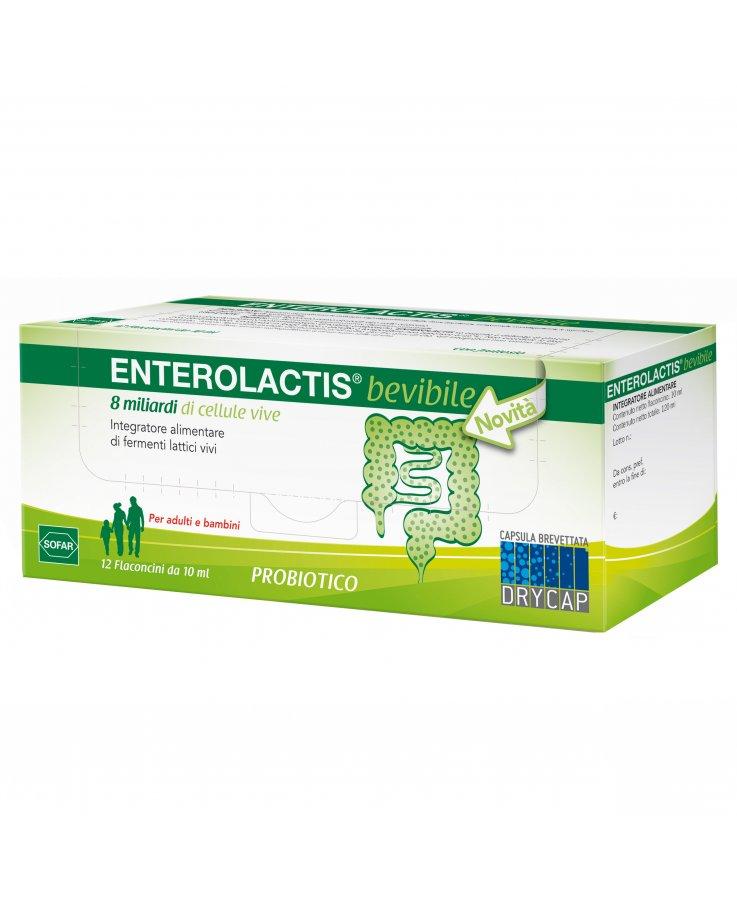 Sofar Enterolactis Bevibile Fermenti Lattici 12 Flaconcini 10ml